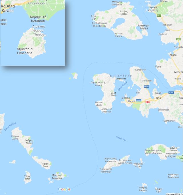 Kort græske øer